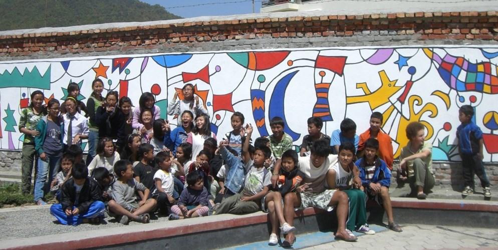 Kailash Home Actividades Mural Niños Nepal